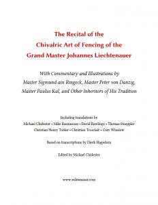 The Recital Johannes Liechtenauer cover